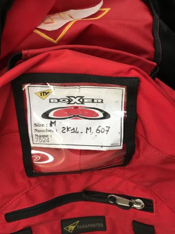 ulm occasion  -  - Voile PAramoteur ITV BOXER Medium noire et rouge