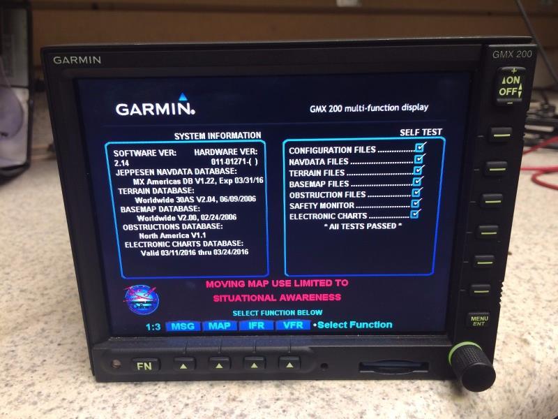 ultralight used Garmin GMX-200 MFD TRAFFIC LATEST SW COMPLETE KIT